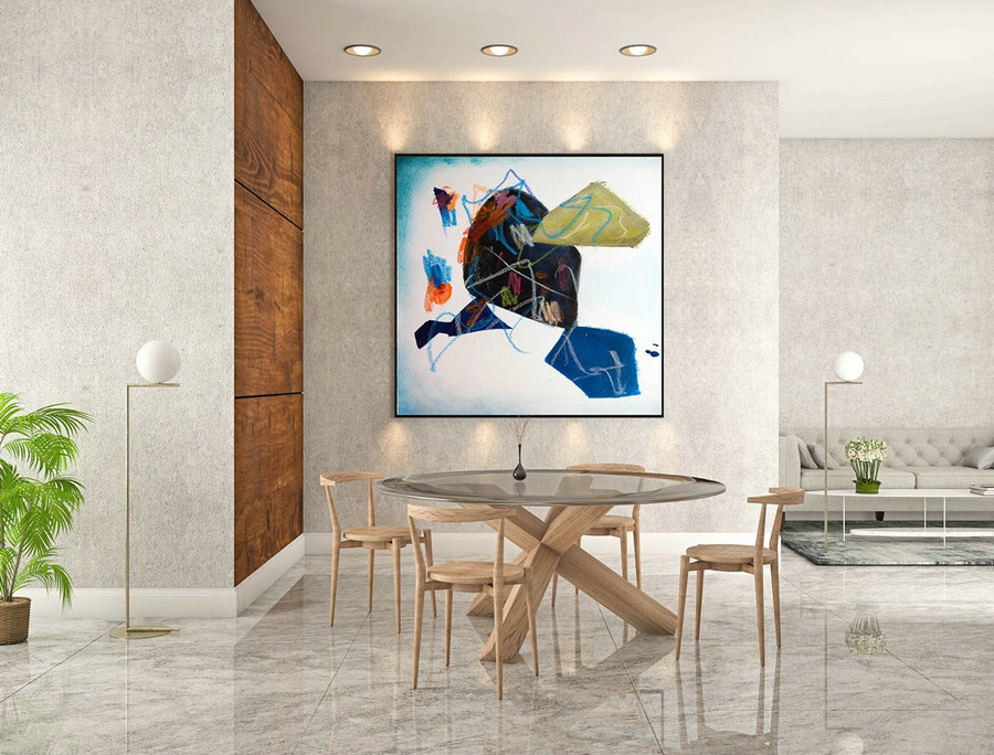 Abstract Canvas Art - Large Painting on Canvas, Contemporary Wall Art, Original Oversize Painting sLaS225