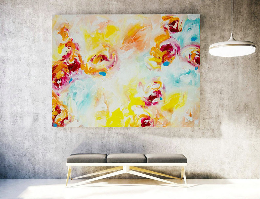 Large Original Painting, Large Wall Art Canvas,Original Large Abstract Painting,Extra Large Abstract Art,Large Abstract Painting XXL LAS027