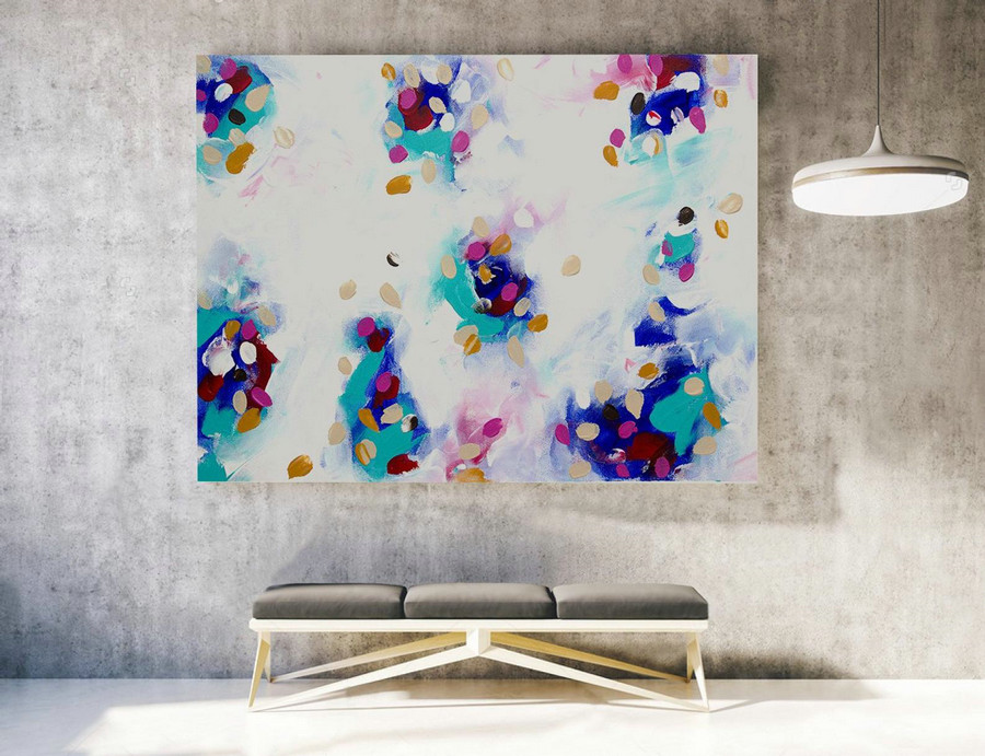 Abstract Painting on Canvas - Extra Large Wall Art, Contemporary Art, Original Oversize Painting LAS028