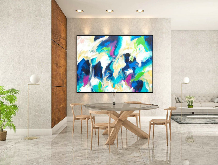 Abstract Painting on Canvas - Extra Large Wall Art, Contemporary Art, Original Oversize Painting LaS068