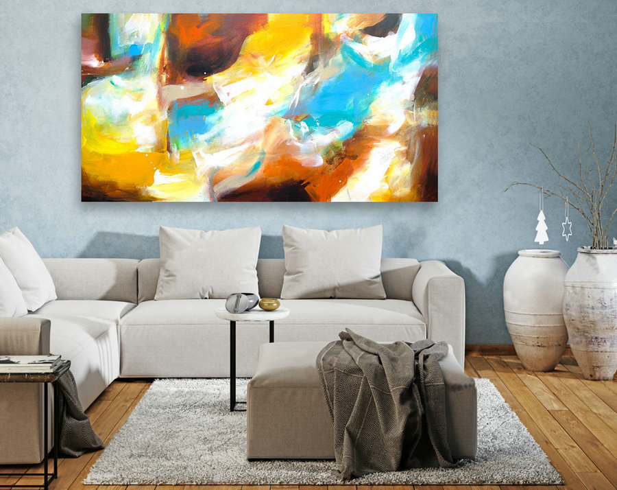 Abstract Canvas Art - Large Painting on Canvas, Contemporary Wall Art, Original Oversize Painting LAS074