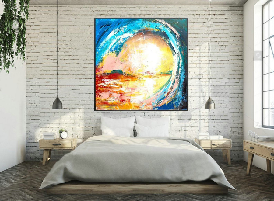 Extra Large Original Painting On Canvas, Abstract Painting Wall Art,Contemporary Wall Art, Modern Art Decor, Living room, Bathroom laS081