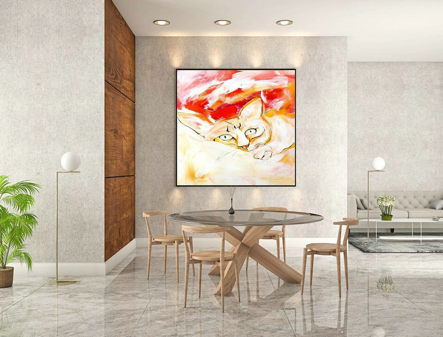Abstract Canvas Art - Large Painting on Canvas, Contemporary Wall Art, Original Oversize Painting LaS087