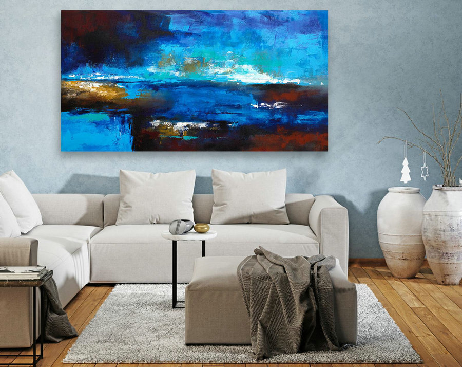 Extra Large Original Painting on Canvas, Large Abstract Painting, Contemporary Wall Art,Large Canvas Art,Modern Art,Living room Decor LAS092