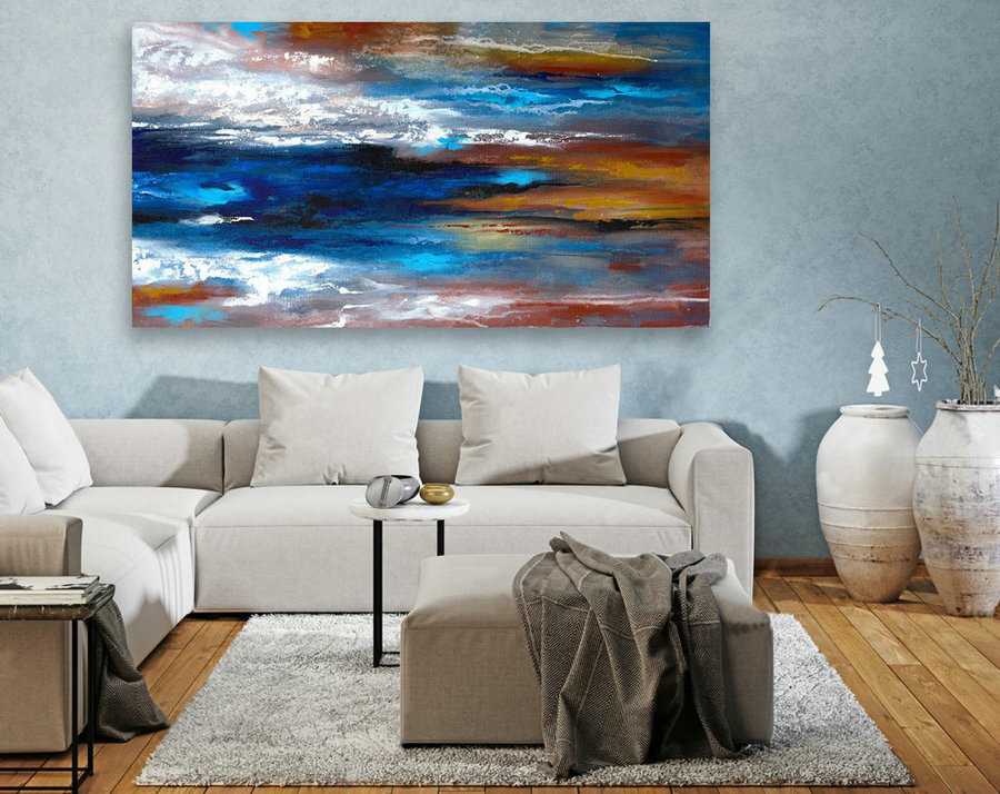 Extra Large Original Painting on Canvas, Large Abstract Painting, Contemporary Wall Art,Large Canvas Art,Modern Art,Living room Decor LAS099