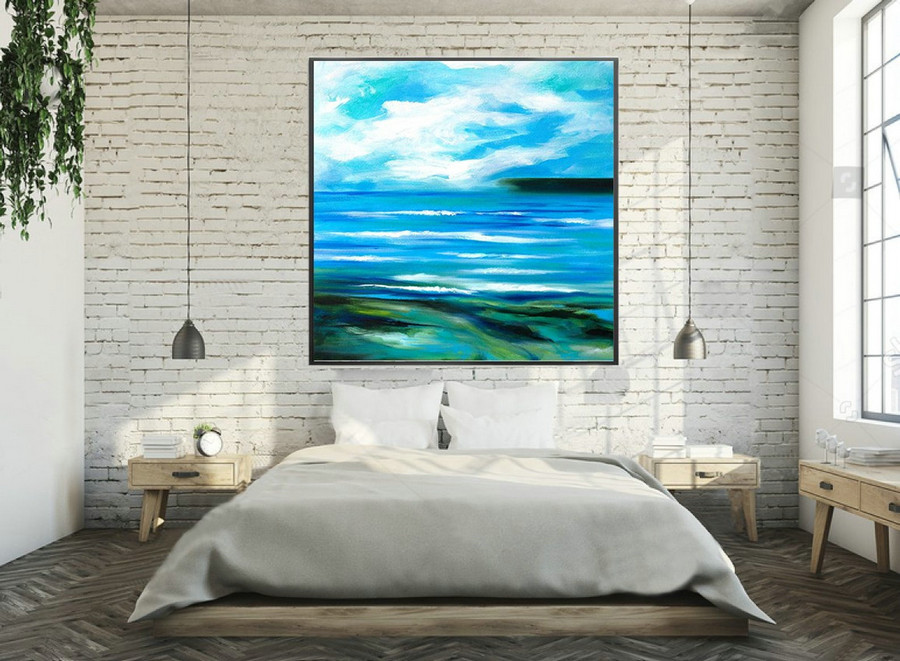 Abstract Painting on Canvas - Extra Large Wall Art, Contemporary Art, Original Oversize Painting LAS102