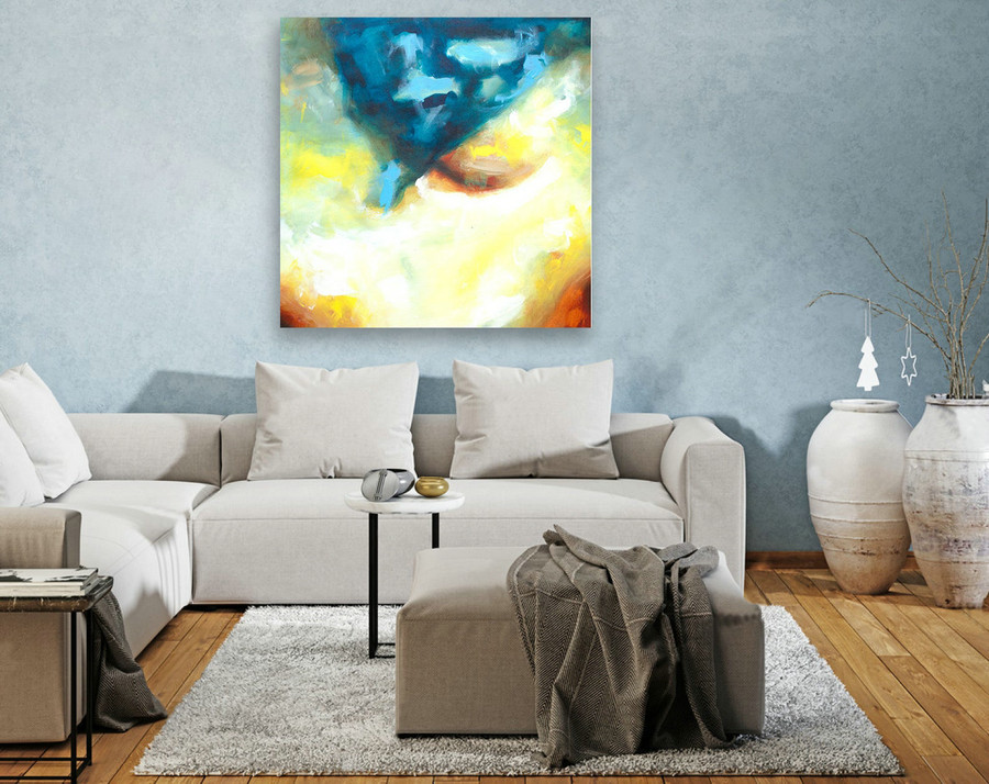 Contemporary Wall Art - Abstract Painting on Canvas, Original Oversize Painting, Extra Large Wall Art LAS132