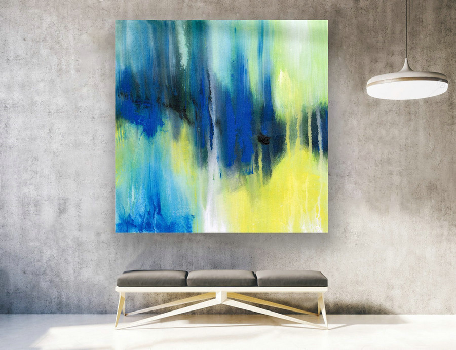 Abstract Canvas Art - Large Painting on Canvas, Contemporary Wall Art, Original Oversize Painting LAS141