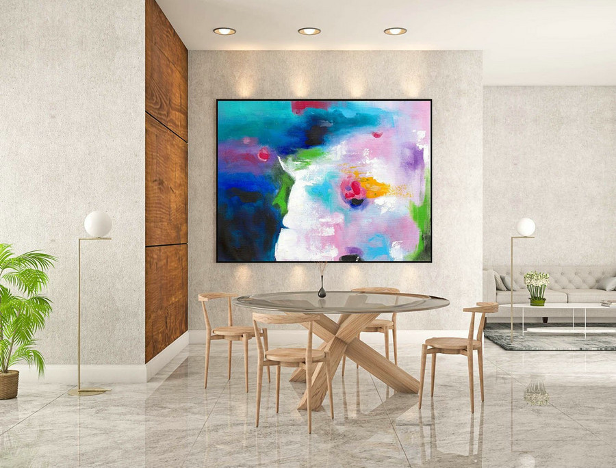 Abstract Canvas Art - Large Painting on Canvas, Contemporary Wall Art, Original Oversize Painting LaS162