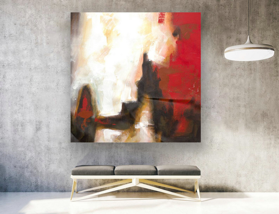 Abstract Canvas Art - Large Painting on Canvas, Contemporary Wall Art, Original Oversize Painting LAS127