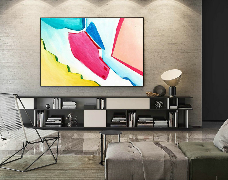 Abstract Canvas Art - Large Painting on Canvas, Contemporary Wall Art, Original Oversize Painting LaS177