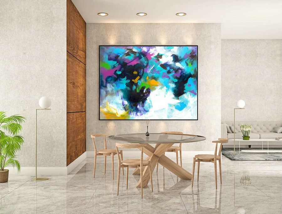 Abstract Painting on Canvas - Extra Large Wall Art, Contemporary Art, Original Oversize Painting LaS191