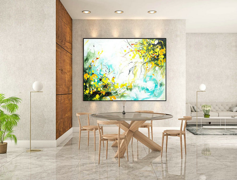 Abstract Painting on Canvas - Extra Large Wall Art, Contemporary Art, Original Oversize Painting LaS198