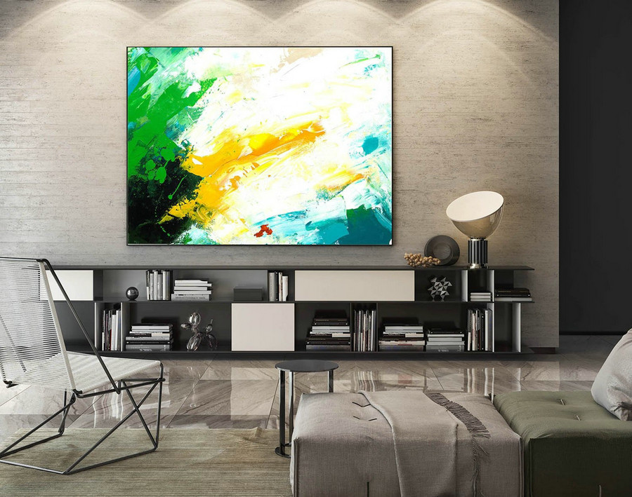 Contemporary Wall Art - Abstract Painting on Canvas, Original Oversize Painting, Extra Large Wall Art LaS202