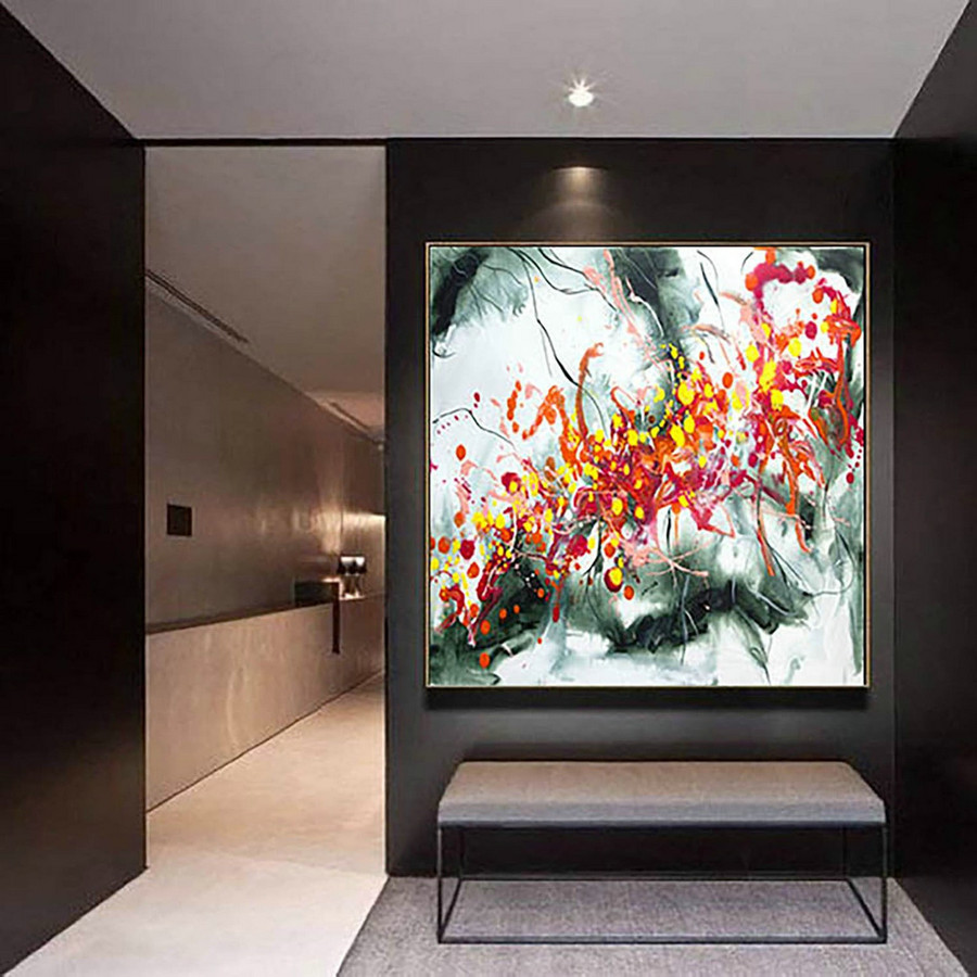 Extra Large Wall art - Abstract Painting on Canvas, Contemporary Art, Original Oversize Painting LaS206