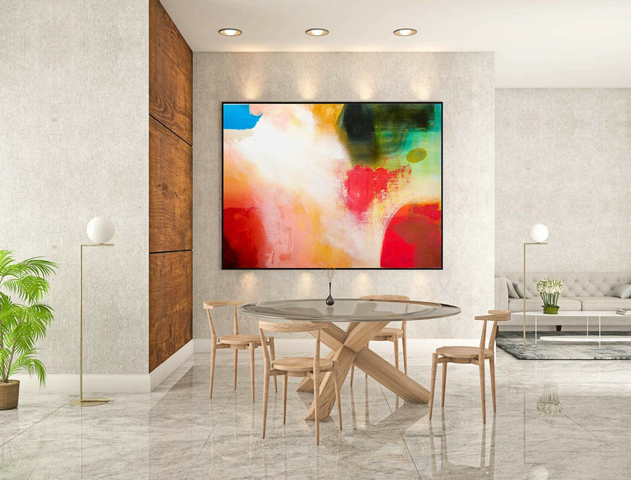 Extra Large Wall art - Abstract Painting on Canvas, Contemporary Art, Original Oversize Painting LaS216