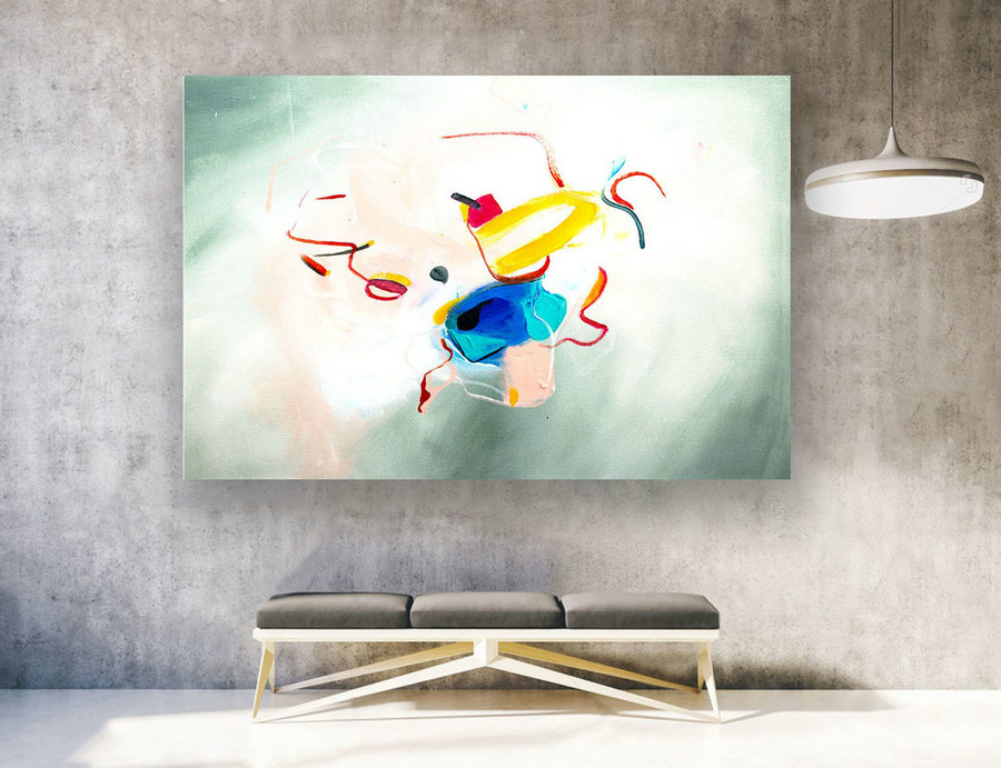 Abstract Canvas Art - Large Painting on Canvas, Contemporary Wall Art, Original Oversize Painting LAS262