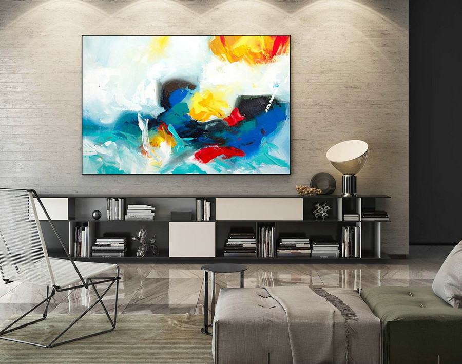Abstract Canvas Art - Large Painting on Canvas, Contemporary Wall Art, Original Oversize Painting LaS263