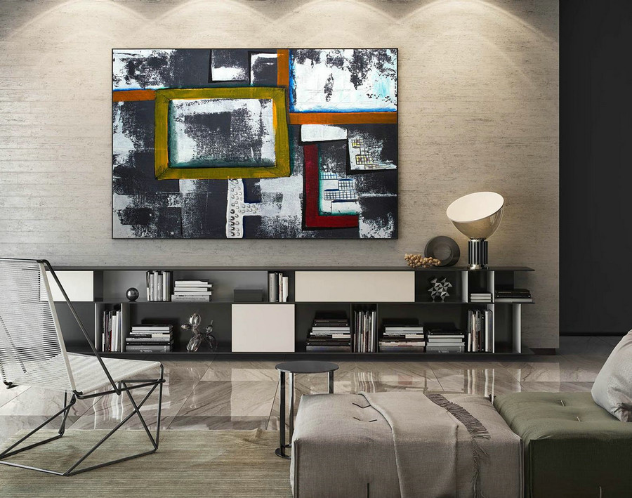Extra Large Wall art - Abstract Painting on Canvas, Contemporary Art, Original Oversize Painting LaS268