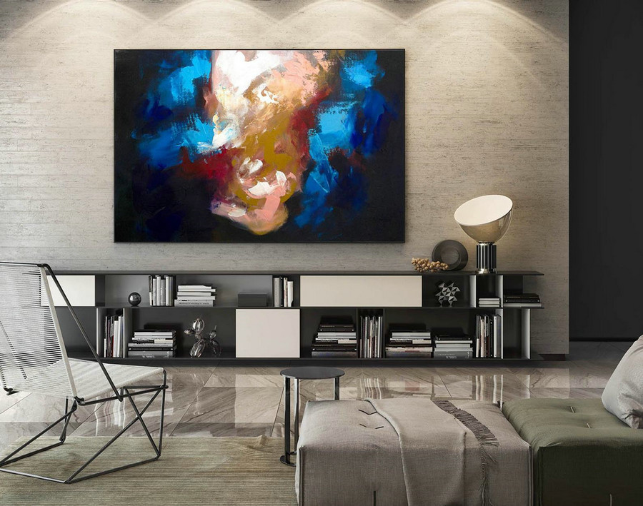 Abstract Canvas Art - Large Painting on Canvas, Contemporary Wall Art, Original Oversize Painting LaS269