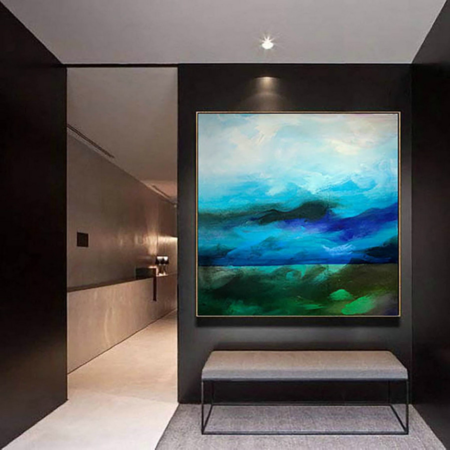 Extra Large Wall art - Abstract Painting on Canvas, Contemporary Art, Original Oversize Painting LaS277