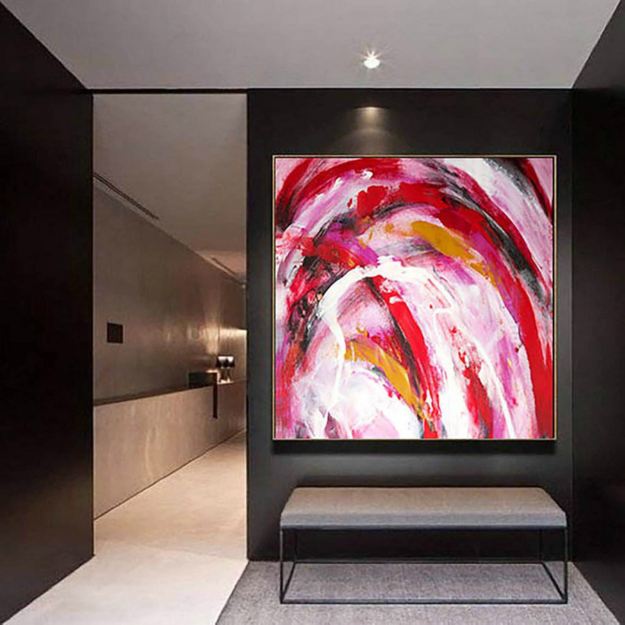 Abstract Painting on Canvas - Extra Large Wall Art, Contemporary Art, Original Oversize Painting LaS304