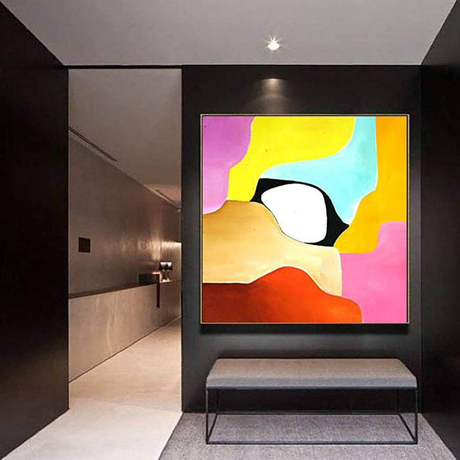 Abstract Painting on Canvas - Extra Large Wall Art, Contemporary Art, Original Oversize Painting LaS349