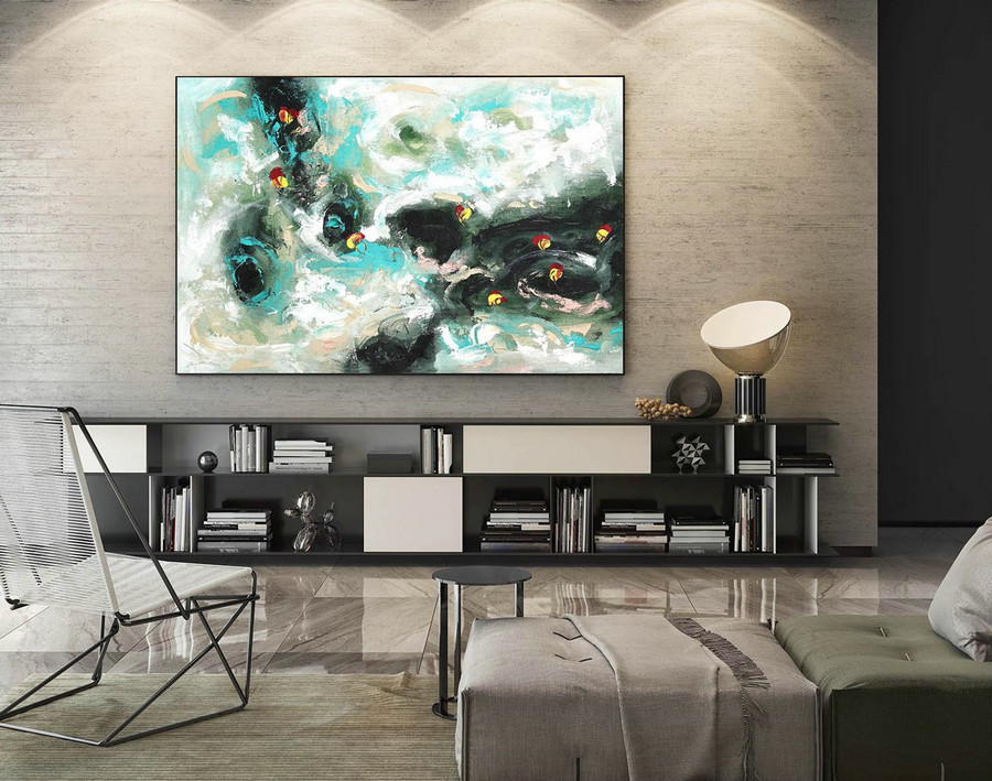 Extra Large Wall art - Abstract Painting on Canvas, Contemporary Art, Original Oversize Painting LaS419