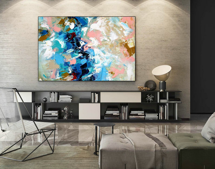 Abstract Painting on Canvas - Extra Large Wall Art, Contemporary Art, Original Oversize Painting LaS429