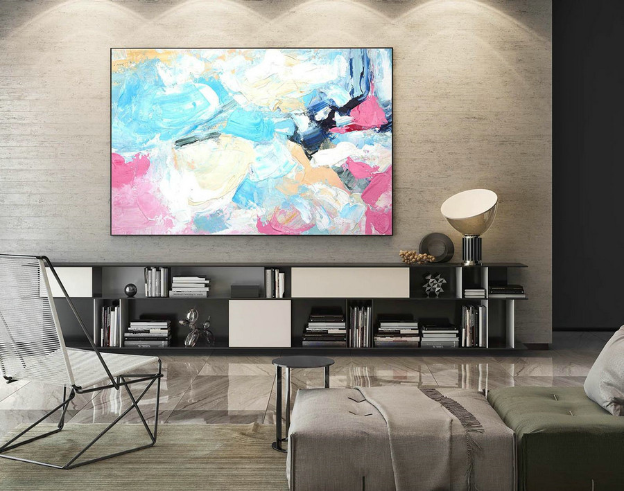 Abstract Canvas Art - Large Painting on Canvas, Contemporary Wall Art, Original Oversize Painting LaS535