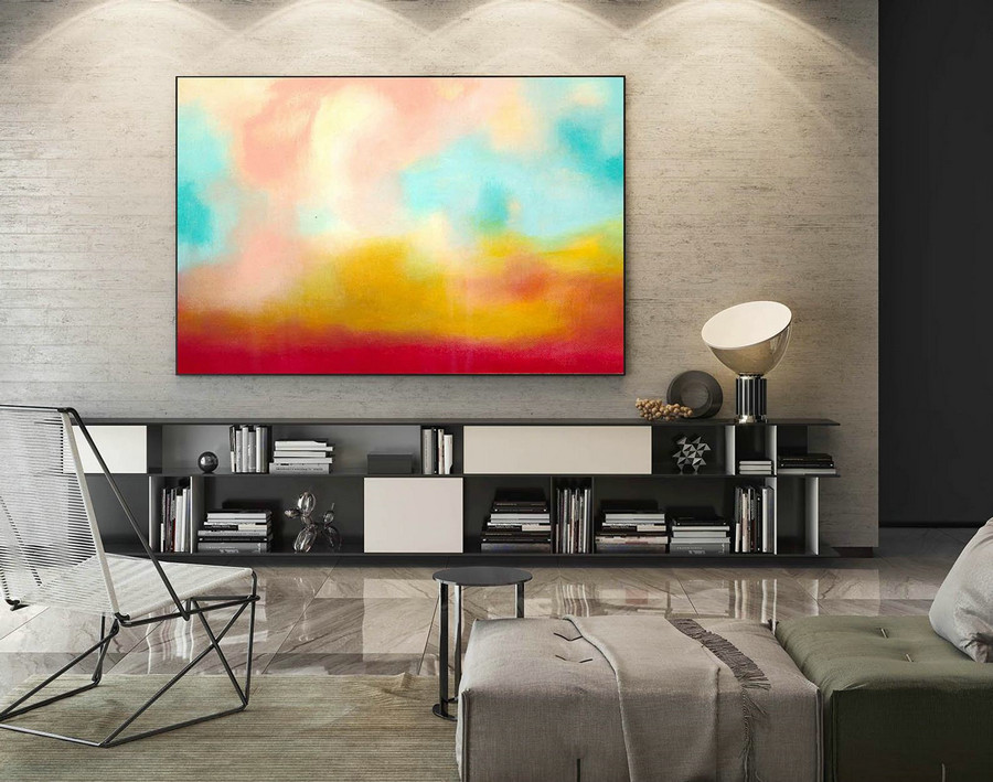 Abstract Painting on Canvas - Extra Large Wall Art, Contemporary Art, Original Oversize Painting LaS557