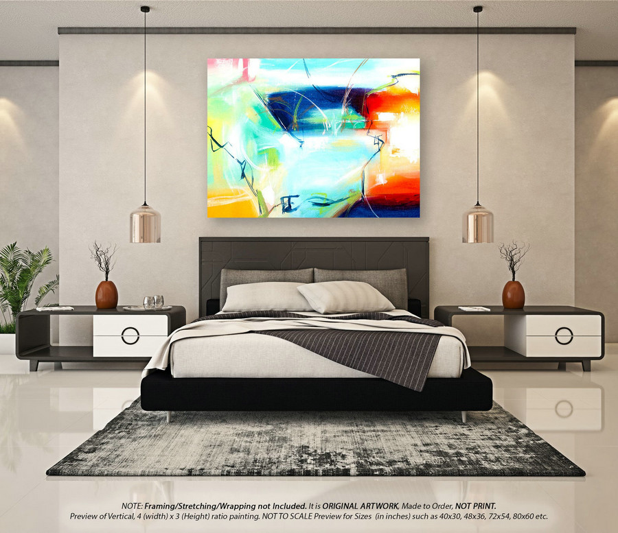Modern Abstract Painting Wall Art Decor - Large Abstract Canvas Art, Canvas Wall Art, Abstract Painting on Canvas, Original Wall ArtYNS166