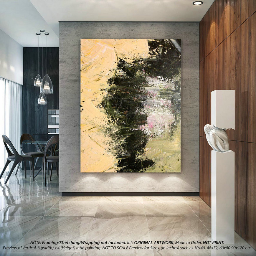 Modern Abstract Art - Original Painting, Office Wall Decor, Canvas Wall Art Living Room decor ,Large Painting , Farmhouse Decor DMS033