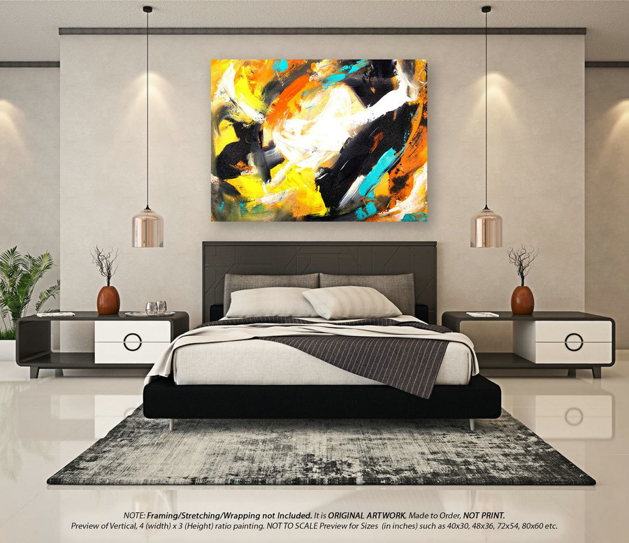 Extra Large Abstract Painting - Acrylic Painting, Original Art, Oil Paintings, Extra Large Wall Art, Abstract Canvas Art, Home Decor YNS044