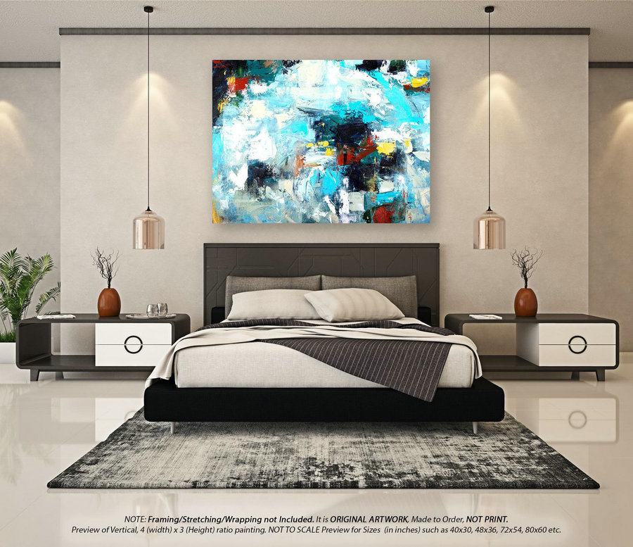 Original Abstract Painting - Acrylic Painting, Canvas Wall Art, Abstract Oil Painting On Canvas, Extra Large Painting, Huge Artwork YNS046