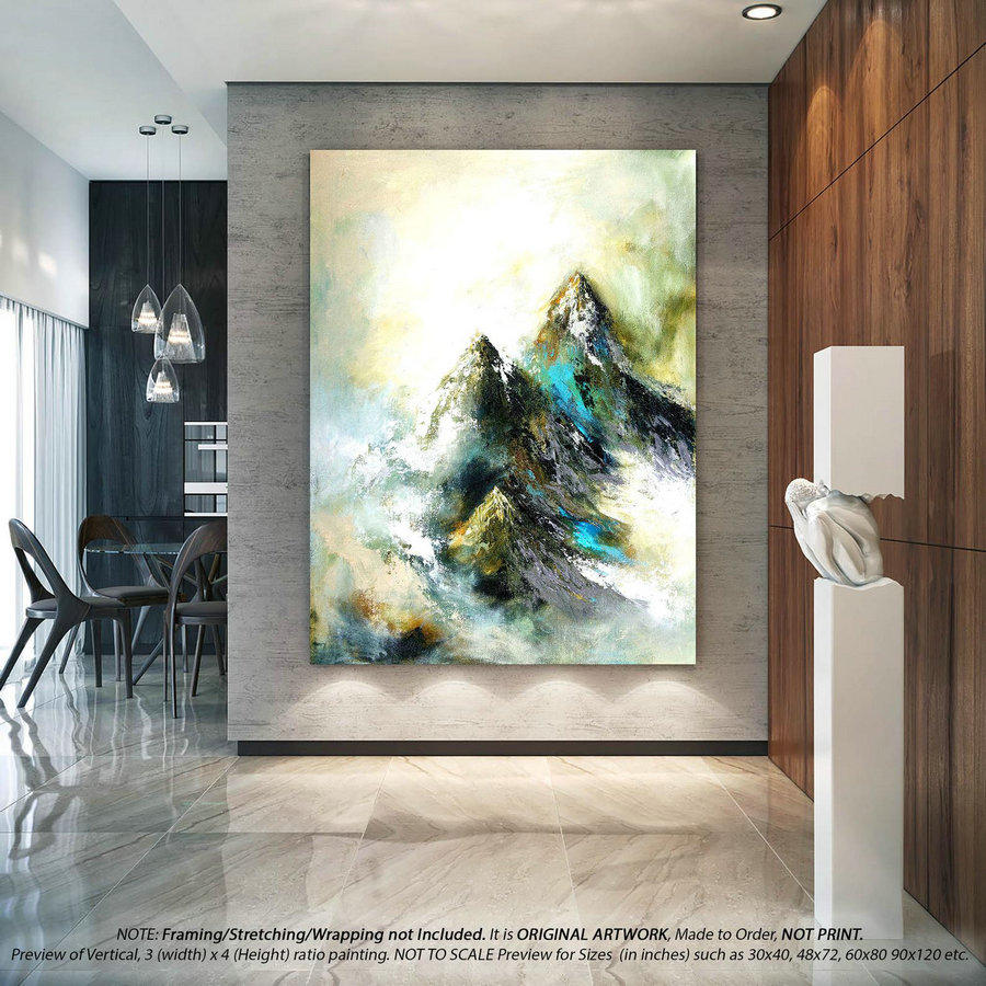 Abstract Painting On Canvas - Extra Large Wall Art, Oversized Original Art, Artwork Original, Acrylic Paintings, Modern Wall Decor YNS053