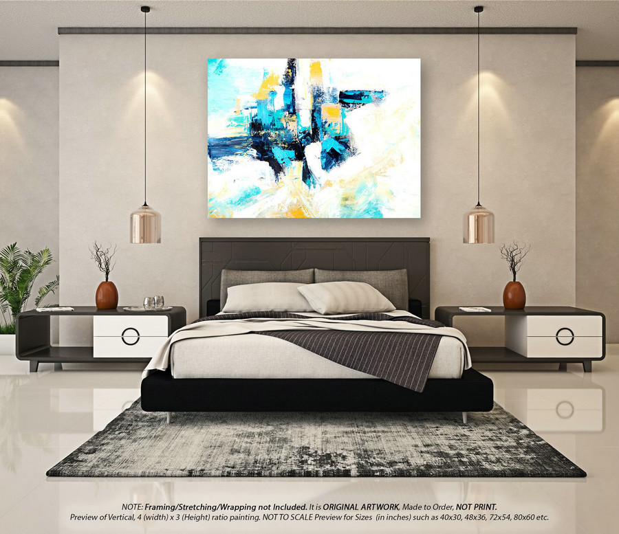 Modern Abstract Painting Wall Art Decor - Canvas Wall Art, Original Oil Painting, Abstract Painting on Canvas, Extra Large Wall ArtYNS117