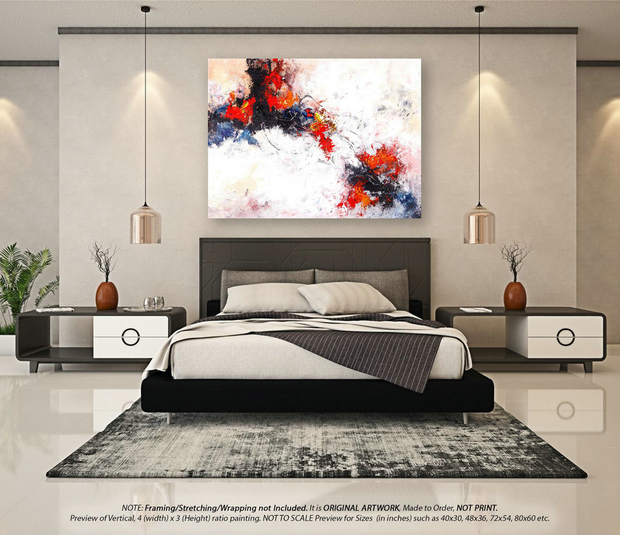 Wall Art Decor Large Abstract Painting - Modern Abstract Art, Original Paintings, Abstract Painting on Canvas, Extra Large Wall ArtYNS122