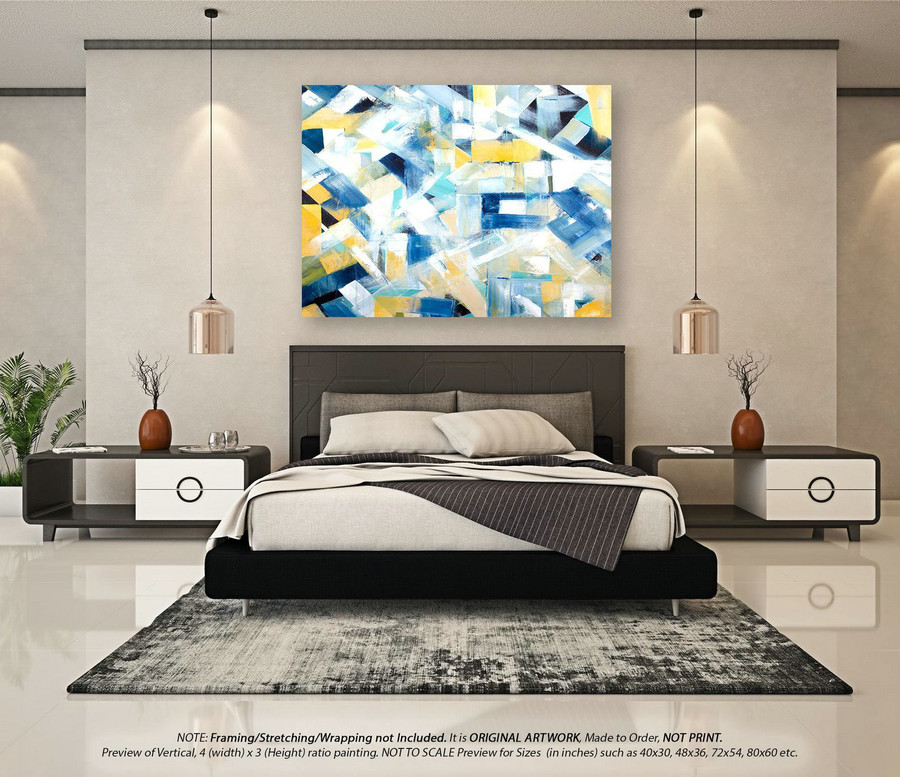 Modern Abstract Art Original Acrylic Abstract Painting - Canvas Wall Art, Original Paintings, Original Oil Painting, Large wall artYNS141
