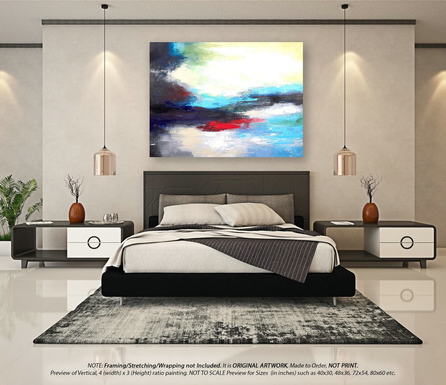 Modern Abstract Painting Modern Abstract Art - Wall Art Decor, Original Paintings, Original Paintings on Canvas, Large Abstract ArtYNS147