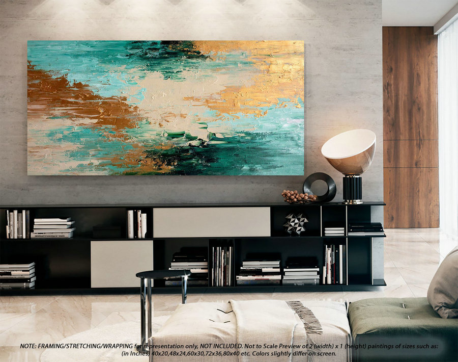 Modern Abstract Art - Extra Large Wall Art, Original Art Painting, Artwork For Living Room, Acrylic Painting On Canvas, Oil Painting DMS086