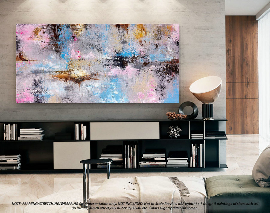 Extra Large Wall Art Decor Modern Abstract Art - Original Abstract Painting, Original Oil Painting, Abstract Canvas Art, Art Decor DMS098