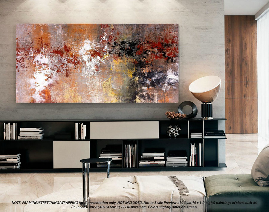 Original Abstract Painting Extra Large Wall Art - Original Oil Painting, Original Paintings On Canvas, Extra Large Abstract Painting DMS081