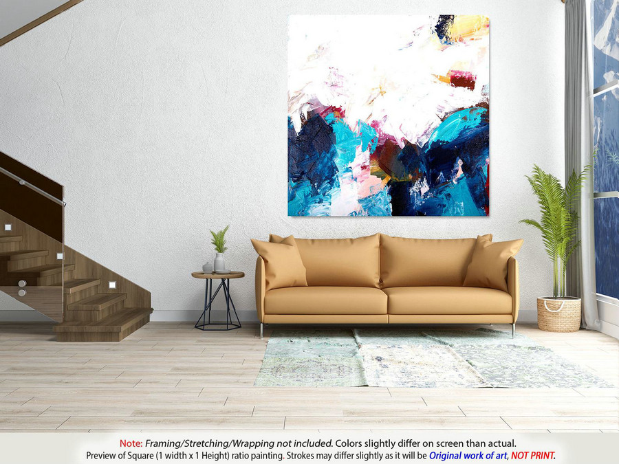 Large Office Wall Art - Original Abstract Art, Modern Wall Decor, Textured Artwork, Acrylic Painting, Oil Painting On Canvas, Artwork YNS055