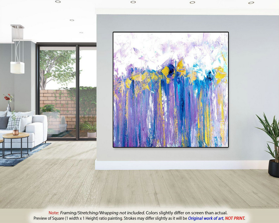 Modern Abstract Painting Wall Art Decor - Extra Large Wall Art, Modern Abstract Art, Original Paintings, Abstract Painting on CanvasYNS121