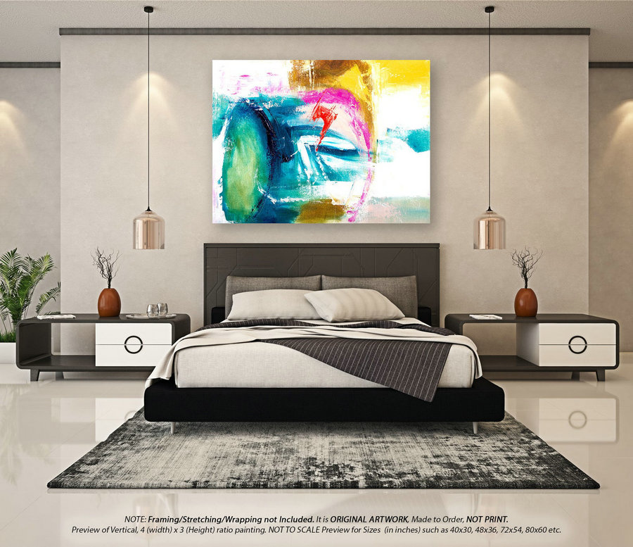 Large Abstract Art Original Abstract Art - Canvas Wall Art, Extra Large Wall Art, Original Paintings on Canvas, Modern Abstract ArtYNS178