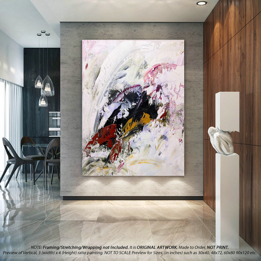 Large Abstract Art -Art Deco,Original Paintings on Canvas,Farmhouse Wall Decor,Housewarming Gift,Large Abstract Art,Acrylic Painting DMS036