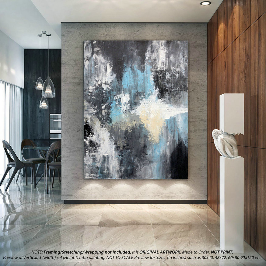 Extra Large Abstract Painting Wall Art Decor - Canvas Wall Art, Oversized Canvas Art, Modern Wall Art, Original Paintings on Canvas DMS073