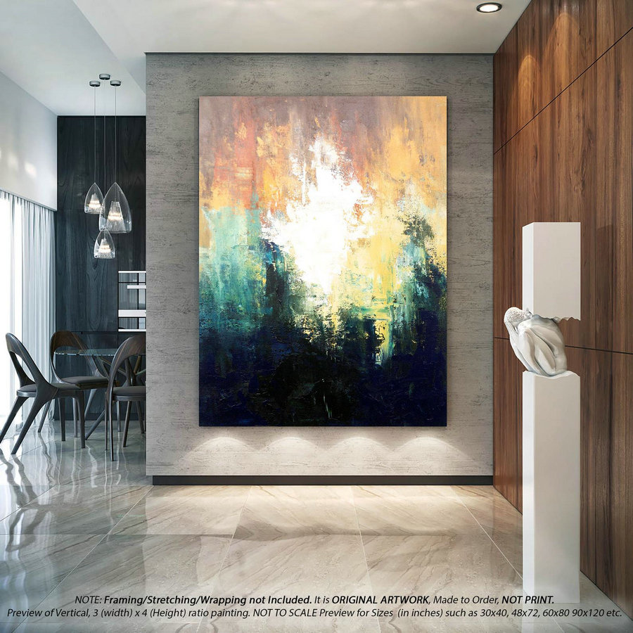 Large Abstract Art Office Decor