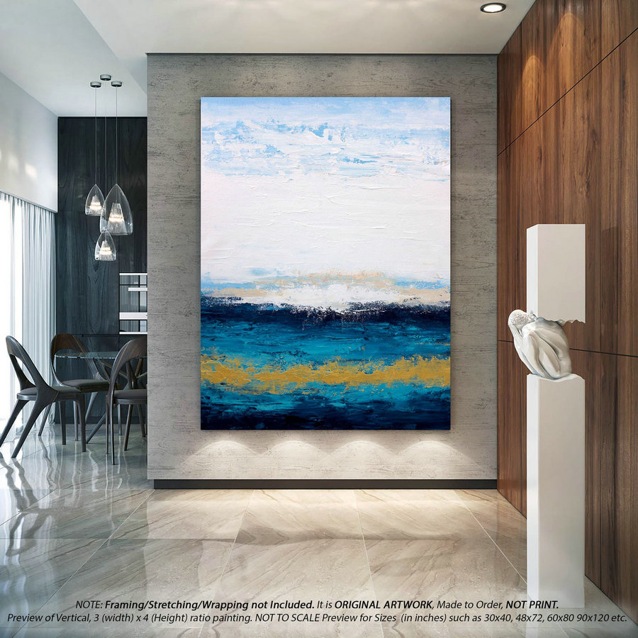 Modern Abstract Art Abstract Wall Art - Original Acrylic Painting On Canvas, Modern Wall Art, Original Abstract Art, Large Wall Art DMS079